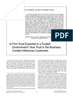 Is firm trust essential in a trusted environtment