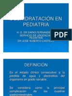 Deshidratacion en pediatría