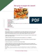 Figues au foie gras et magret de canard fumé