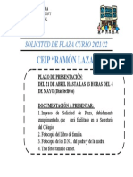 Solicitud Plaza Para Blog