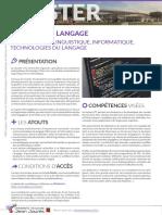 Catalogue Master 2021-2025 - litl_- linguistique informatique technologies du langage