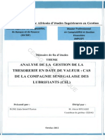 259891476 Analyse de La Gestion de Tresorerie en Dat de Valeur