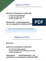 exercices  (Réseau PERT et Diagramme de GANTT)