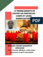 TREMBLEMENTS DES PARTES DU CORPS ET LEURS SIGNIFICATIONS
