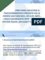 Fraccionamiento Del Pago Tras Presentar La Declaración