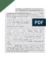 ACTA DE ASAMBLEA CORPORACION TELECOMUNICACIONES ACTA 3