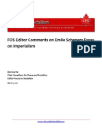 FOS Editor Comments on Emile Schepers Essay on Imperialism