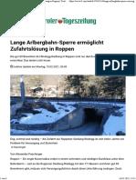 Lange Arlbergbahn-Sperre ermöglicht Zufahrtslösung in Roppen _ Tiroler Tageszeitung Online – Nachrichten von jetzt!