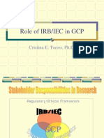 ROLE OF IRB IN CR