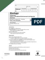 October 2017 (IAL) QP - Unit 4 Edexcel Biology A-level