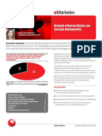 eMarketer Brand Interactions on Social Networks[1]