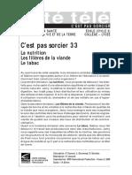 CPS 33 - viande, nutrition, tabac