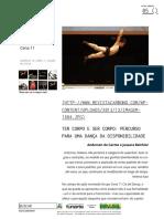 Ter Corpo e Ser Corpo - CIA Cena 11 - Revista Carbono #5
