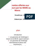Les Garanties Offertes Aux Investisseurs Par Les MARC