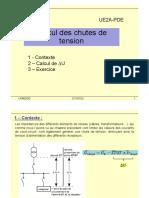 IUT Toulon Ue2a-Pde Ch7 - Calcul Chutes Tension