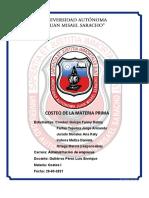 COSTEO DE MATERIA PRIMA