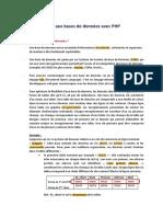 Base de Donnees PHP