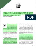 """Penhos, Marta, """"De categorías y otras vías de explicación una lectura historiográfica de los Anales de Buenos aires (1948-1971)"""