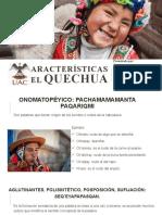 Caracteristicas del quechua