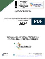 CARTA  III  JUEGOS DEPORTIVOS ADMINISTRATIVOS 2020 - MARZO 25.26.27 Y 28 2021