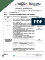 COMUNICACION INFORMATIVA 001 - sabanalarga 2021