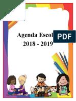 AGENDA ESCOLAR 2018 - 2019 DE 1° Y 2°