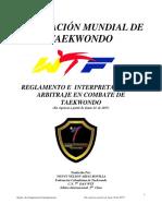 Reglamento de combate individual TKD 2017