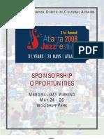 AtlantaJazzFestivalSponsorshipProposal-2008