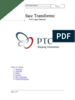 pro-e surface_transforms