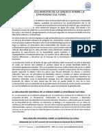 04. Tema 4 La Declaración de La Unesco Sobre La Diversidad Cultural
