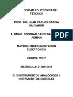 01.3 Instrumentos Analógicos e Instrumentos Digitales