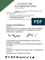 ETAPAS  DE  LECTOESCRITURA