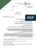 PROGRAMME DE F6 CO (2021-I)