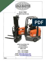 Electric Aisle-Master parts manual