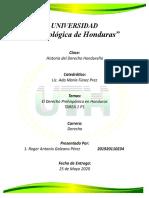 TAREA 1 P 1El Derecho Prehispánico en Honduras