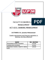 Conclusion of capital requirement n financial regulation
