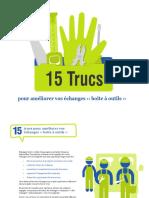 15 trucs pour améliorer vos échanges ‹‹ boîte à outils ››