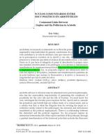 VÍNCULOS COMUNITARIOS ENTRE SOPHOS Y POLÍTICO EN ARISTÓTELES