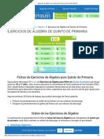 Ejercicios de Álgebra de Quinto de Primaria _ 25 FICHAS GRATIS