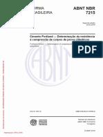 NBR 7215 - Cimento Portland - Determinação Da Resistência à Compressão de Corpos de Prova Cilíndricos