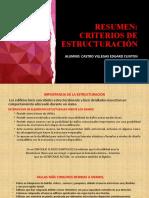 CRITERIOS DE ESTRUCTURACION-CASTRO VILLEGAS EDGARD CLINTON