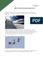 Spectacolul sportiv în schi