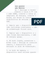 Manual do TV Box R69 Portugues