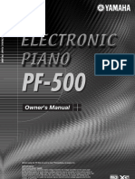 Yamaha Pf500 Manual