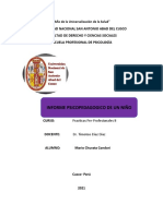 Informe Psicopedagogico de D.S.C