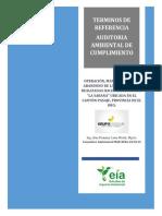 TERMINOS DE REFERENCIA DE LA AUDITORIA AMBIENTAL DE CUMPLIMIENTO HACIENDA LA SABANA (1)