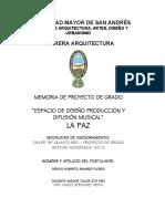 Espacio de diseño, producción y difusión musical - Macrodistrito Sur