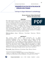 Chaves hermeneuticas da escatologia de Moltmann