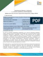 Syllabus del curso Procesos Cognoscitivos Superiores