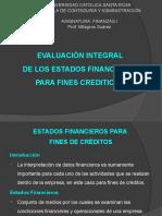 Tema 7 Evaluación Edos Financieros para créditos